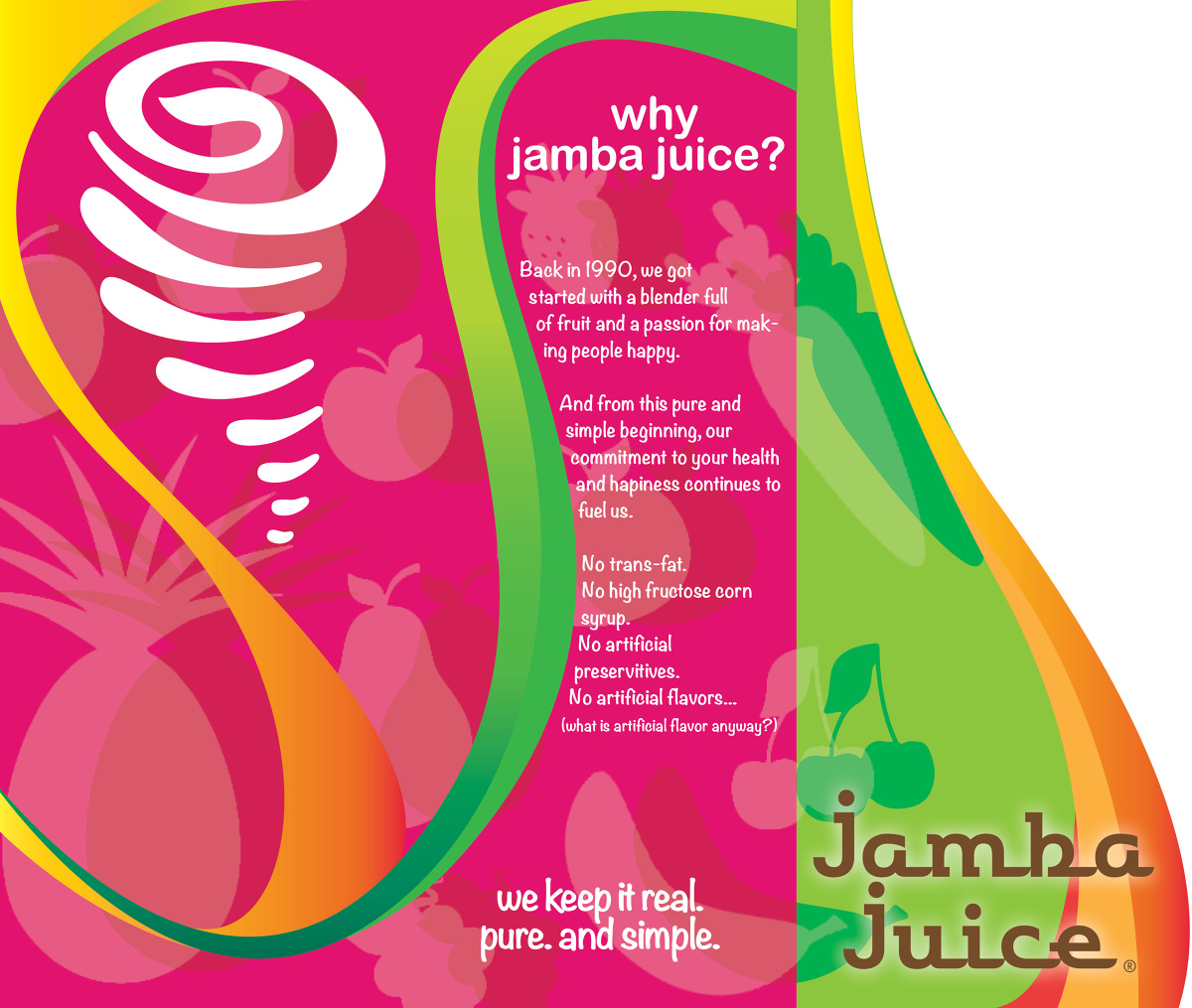 proposal for jamba juice Proposal to bring jamba juice to terminal m jamba juice is a great option for the travellers that want to bask our in dining experience as they await their flight besides for those travellers running buttocks and necessitate a speedy bite to eat they can transport on board.